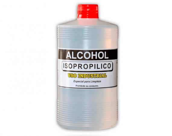 Alcohol isopropilico y desnaturalizado, para la limpieza.